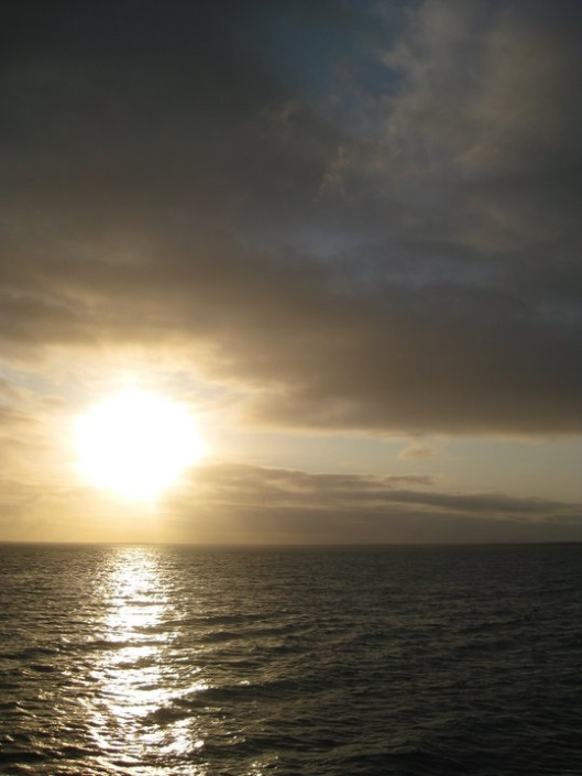 Sunset southern ocean