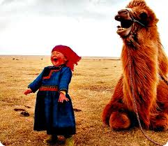 Girl and Camel Duet; Source unknown